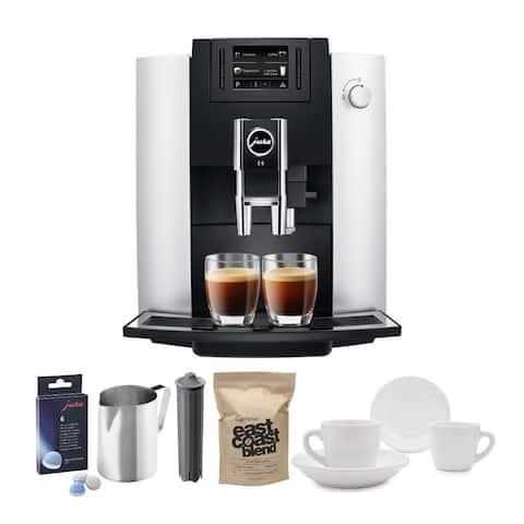 Jura E6 Coffee Center with Jura Cartridge and Whole Bean Coffee Bundle