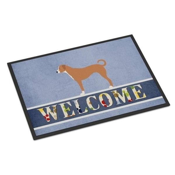 Carolines Treasures BB8290JMAT Australian Pinscher Welcome Indoor or Outdoor Mat - 24 x 36 in.
