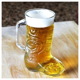 Anchor Hocking Glass Cowboy Boot Mug, 12.5 Ounces