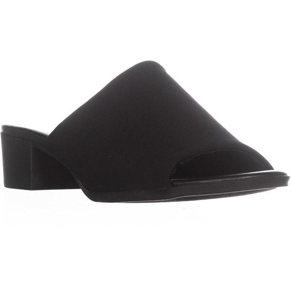 Bandolino Evelia Round Toe Slide Sandals, Black - 6.5 us