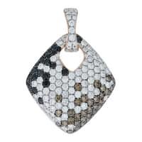 Prism Jewel 1.94Ct Multi Color Diamond & Diamond Unique Shaped Pendant