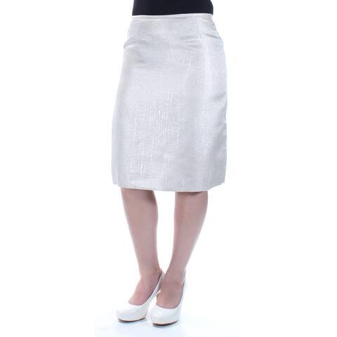 BOBBIE&BRICKA Womens Gold Below The Knee Pencil Skirt Size 4