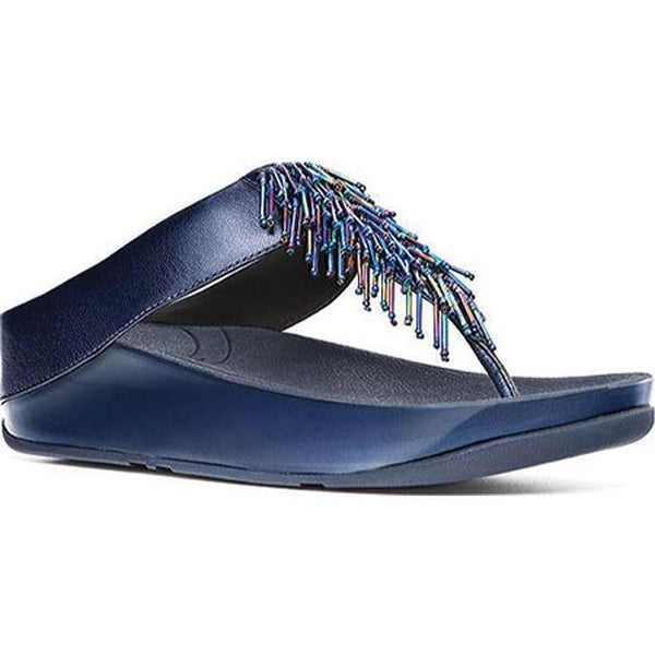 3d35d80e2d9702 Shop FitFlop Women s Cha Cha Thong Sandal Sapphire Smooth Leather ...