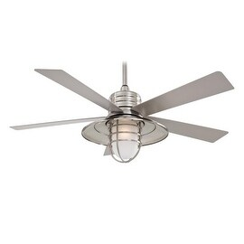 """MinkaAire Rainman Rainman 5 Blade 54"""" Indoor / Outdoor Ceiling Fan - Light, Wall Control, and Blades Included"""