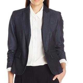 Link to Anne Klein Women's Denim Jacket Blue Size 12 Single Button Seamed Similar Items in Women's Outerwear
