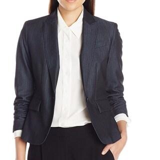 Link to Anne Klein Women's Denim Jacket Blue Size 8 Single Button Seamed Similar Items in Women's Outerwear
