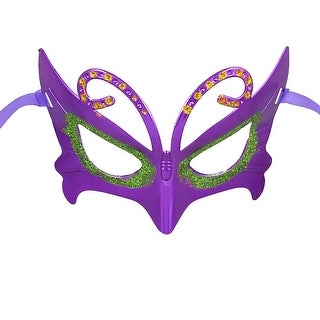 Unique Bargains Women Glittery Green Powder Accent Cosplay Party Eye Mask Purple