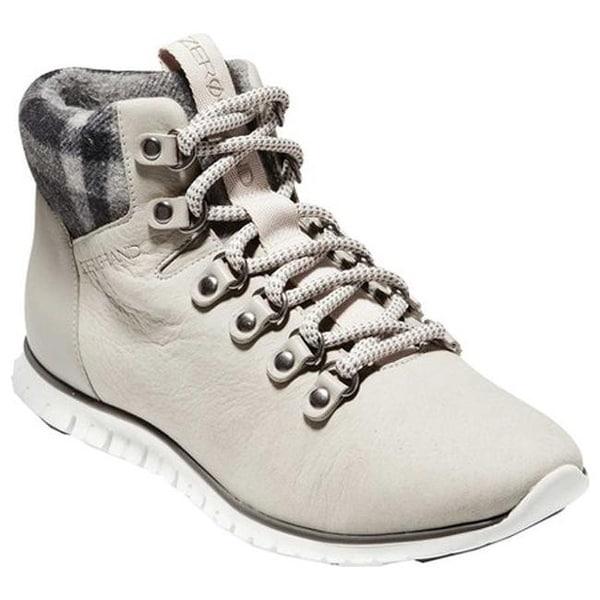 6361fdeabfcb Cole Haan Women  x27 s ZEROGRAND Hiker Boot Dove Nubuck Grey Plaid Wool