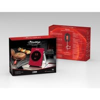 GrillEye GE0001 Smart Bluetooth Grilling & Smoking Thermometer, Red