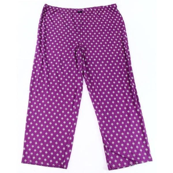 37fecc857de6 Shop Ellen Tracy Purple Womens Size 3X Plus Printed Sleepwear Pants - Free  Shipping On Orders Over $45 - Overstock - 28329832