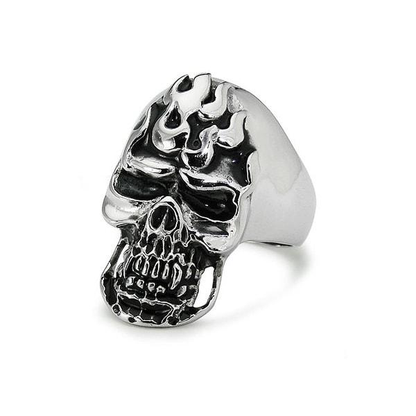 Stainless Steel Skull Ring - Size 10
