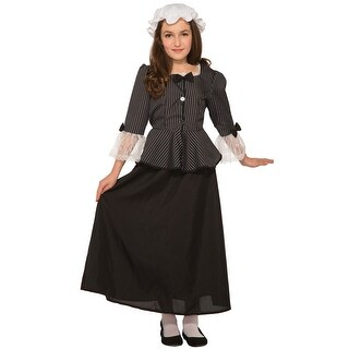 Forum Novelties Classic Martha Washington Child Costume (Medium) - BLACK/WHITE - Medium