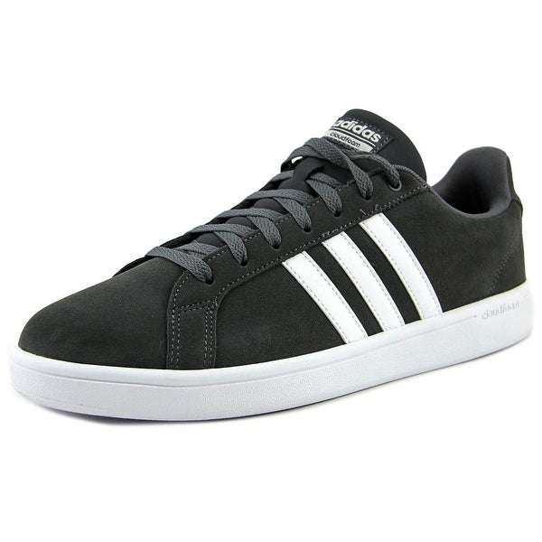 Adidas CF Advantage Women Round Toe Suede Gray Tennis Shoe