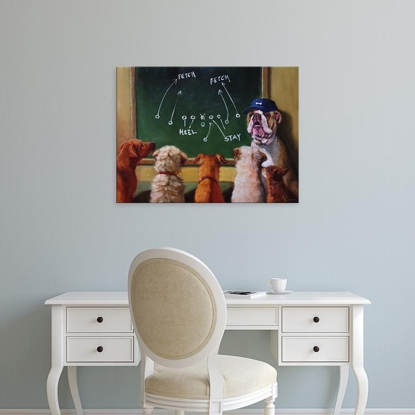 Easy Art Prints Lucia Heffernan's 'Game Plan' Premium Canvas Art