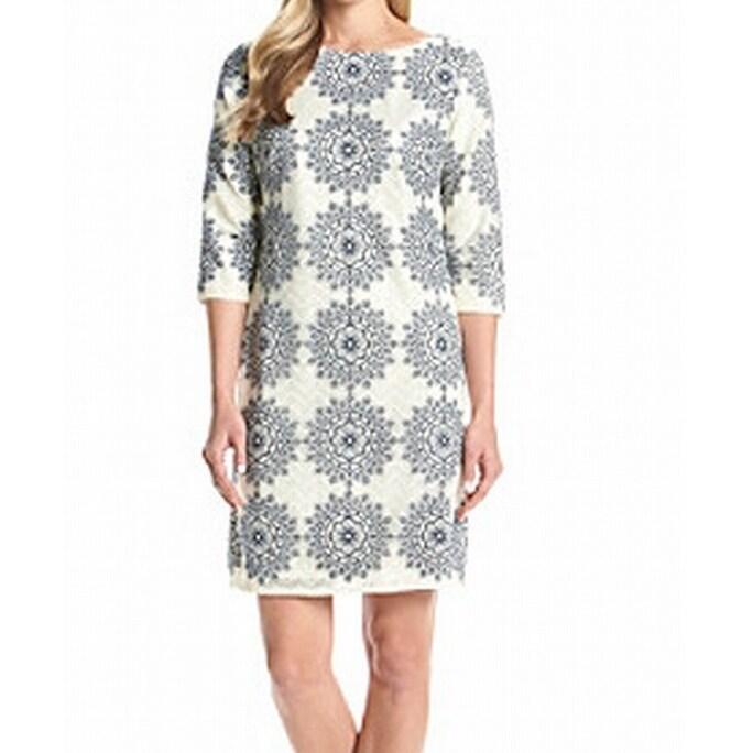 NEW WHITE STUFF SATO JERSEY DRESS SHIFT TUNIC BLUE NAVY IVORY 8-18 RRP £55