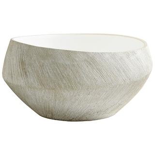 """Cyan Design 08741  Selena 11-1/2"""" Diameter Ceramic Decorative Bowl - Natural Stone"""