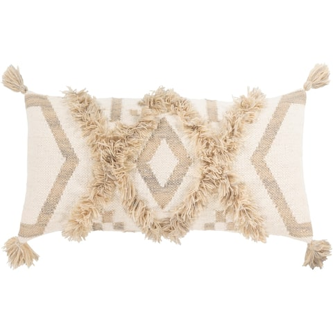 Hamel Hand Woven Boho 12x30-inch Lumbar Throw Pillow Cover