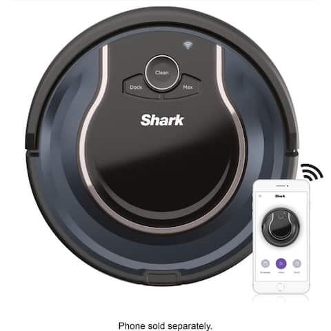 Refurbished Shark ION ROBOT RV-761 App-Controlled Robot Vacuum Black/Navy Blue