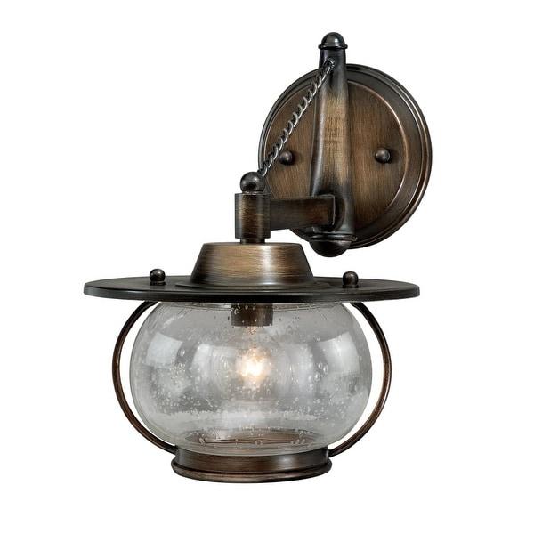 "Vaxcel Lighting W0017 Jamestown 1-Light Bathroom Sconce - 12.5"" Wide - parisian bronze"