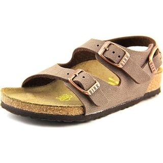 Birkenstock Roma Kids Toddler Open Toe Leather Brown Slides Sandal