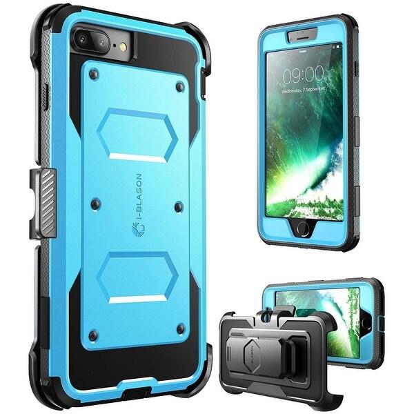 i-Blason-iPhone 7 Plus Case, [Armorbox]built in Bumper Case-Blue