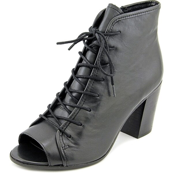 Steve Madden Neela Women Peep-Toe Leather Bootie