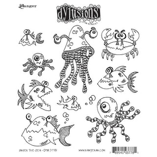 "Dyan Reaveley's Dylusions Cling Stamp Collections 8.5""X7""-Under The Sea"
