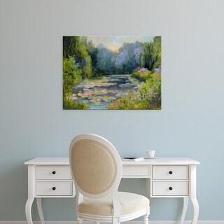 Easy Art Prints Mary Jean Weber's 'Monet's Garden I' Premium Canvas Art