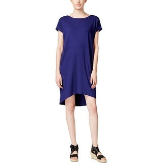 Eileen Fisher Womens Casual Dress Hi-Low Cap Sleeves - xs