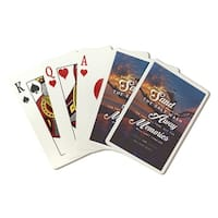 Jekyll Island GA Driftwood Beach Sent LP Photo (Poker Playing Cards Deck)
