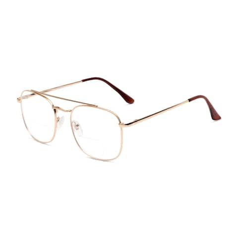 Readers.com The Gene Bifocal Aviator Reading Glasses