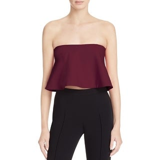 Likely Womens Tearose Crop Top Partial Mesh Liner Strapless