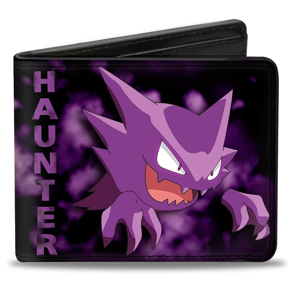 Haunter Pose Clouds Black Purples Bi Fold Wallet - One Size Fits most