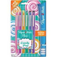 Assorted - Paper Mate Candy Pop Flair Medium Felt Tip Pens 12/Pkg