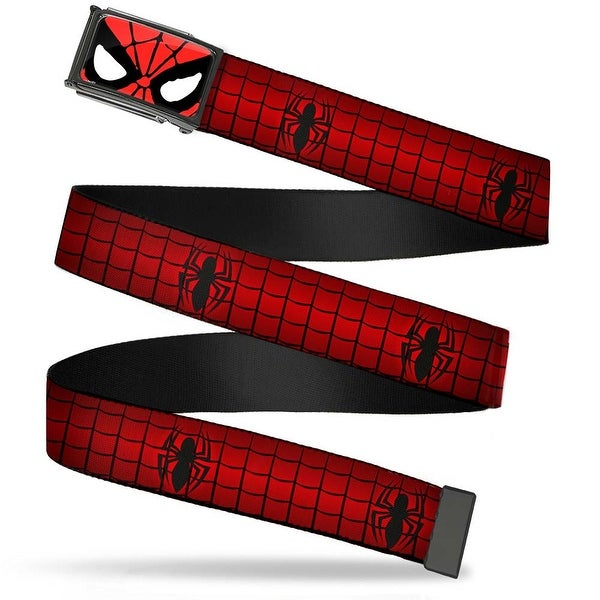 Ultimate Spider Man Spider Man Face Close Up Fcg Chrome Spider Logo2 Web Belt