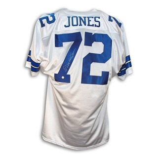 "Ed ""TooTall"" Jones Dallas Cowboys Autographed White Throwback Jersey"