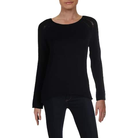 Chelsea & Theodore Womens Sweater Ladder Stitch Pullover