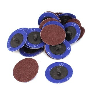 """Unique Bargains Sander 50mm 2"""" inch Dia 40 Grit Sandpaper Sanding Polishing Discs Wheel 20pcs"""