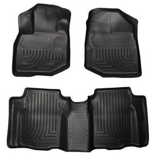Husky Weatherbeater 2009-2013 Honda Fit Black Front & Rear Floor Mats/Liners