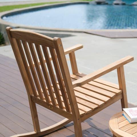 Valencia Natural Teak Outdoor Rocking Chair