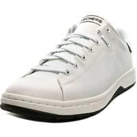 Skechers Alpha Lite Men  Round Toe Canvas White Sneakers