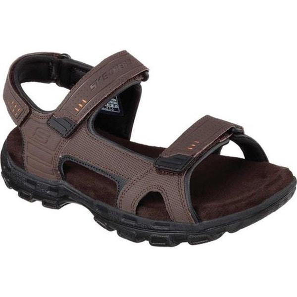 1cc5aa36b498 Shop Skechers Men s Relaxed Fit Conner Louden Sandal Brown - On Sale ...