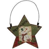 Snowman Star Ornament