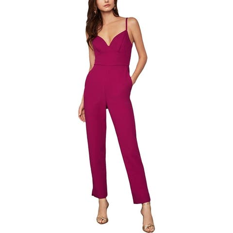 BCBG Max Azria Womens Jumpsuit Sweetheart Cut Out Back