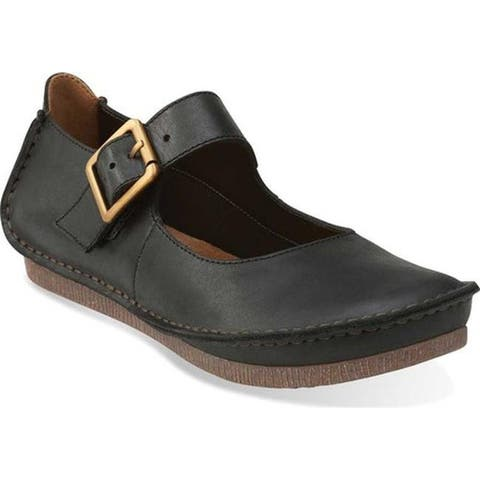 Clarks Women's Janey June Mary Jane Black Leather