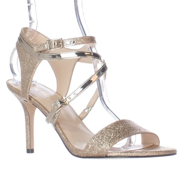 Nine West Gypsee Multi Strap Dres Sandals, Light Gold/Light Gold