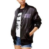 Purpose Tour Black Purple Womens Size Large L Graphic Bomber Jacket