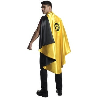 DC Comics Robin Deluxe Costume Cape Adult One Size - Yellow