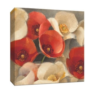 "PTM Images 9-152509  PTM Canvas Collection 12"" x 12"" - ""Poppies Bloom II"" Giclee Poppies Art Print on Canvas"