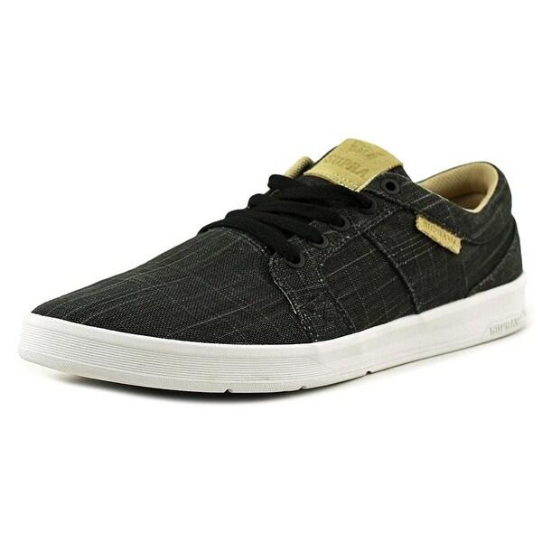 Supra Ineto Men Round Toe Canvas Black Skate Shoe